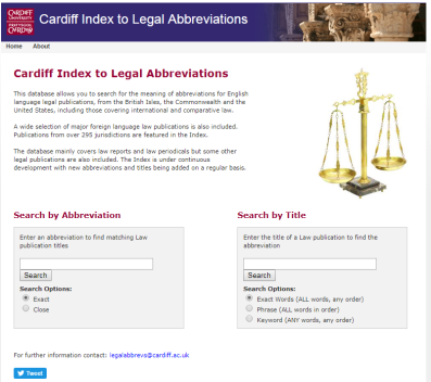 Cardiff Legal Abbreviations